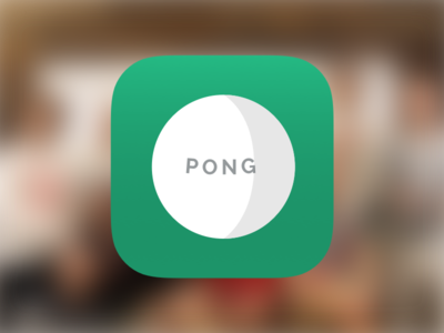 Pong App ping pong pong ping rounded app icon icon app score ios