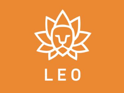 The Zen Lion lion logo orange zen lotus flower fitness training