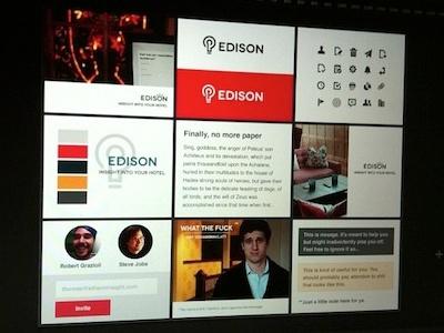 Edison Styletiles clean analytics styletiles flat ui edison light bulb salmon mood board rounded hotel hospitality mood board hotels styles