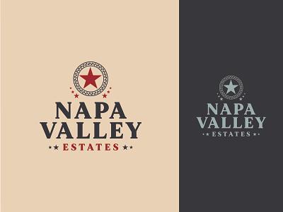 Napa Valley Estates concept brand identity brand design brand winery napa valley california logomark logotype custom design vector alcohol spirits wine branding logo