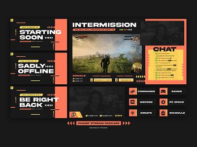 Champ Stream Package custom icon design trademark illustration logo branding brand stream overaly stream overaly stream package streamer