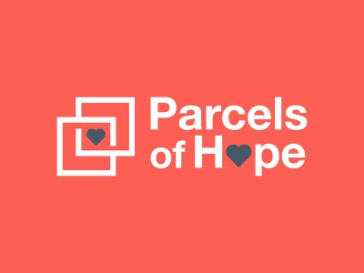 Parcels of Hope Logo hopes hope package parcels church ministry custom icon design trademark illustration trad branding logo graphic design
