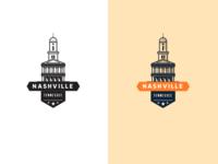 Nashville Capital Building Badge badge illustration building capital tennessee nation logo branding cityscape city nashville