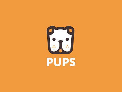 Pups Logo W/ Color icon illustration identity logos branding thirty logos puppy dogs pups