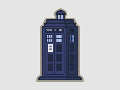 Tardis time machine london phone booth policebox illustration uk united kingdom british tardis bbc doctor who