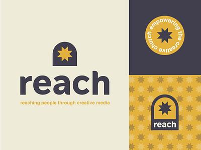 Reach Branding reach. community logo design branding church social reach