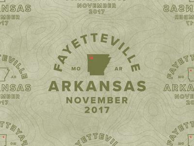 Fayetteville new november patch badge work agency arkansas fayetteville
