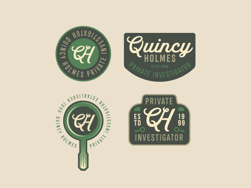 Quincy Holmes Private Investigator Branding by Rodney Truitt