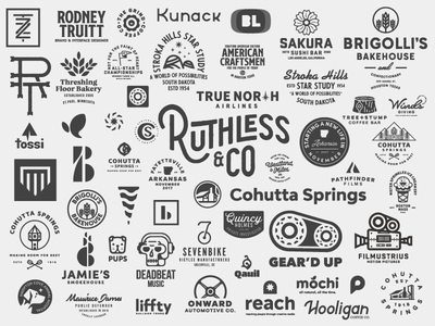 Logo Collage 2017 portfolio 2018 badges illustration 2017 branding logos