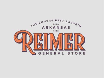 Reimer General Store Branding typeface font illustration design bargain south arkansas branding logo store