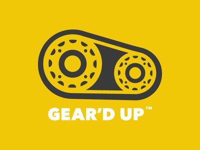 Gear'd Up Branding cycling gears branding trademark logo bicycle