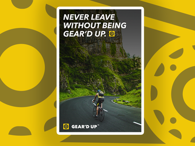 Gear'd Up Poster gears bicycle business corporate print design poster