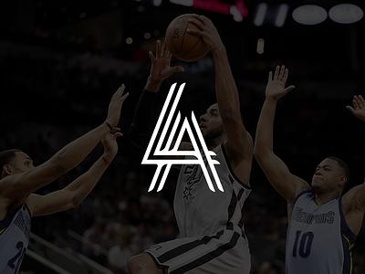 LaMarcus Aldridge Branding // 2 Dribbble Invites champion trademark design sports logo allstar playoffs nba basketball