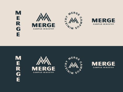 Merge Campus Ministry Branding trademark logo branding ministry campus college merge
