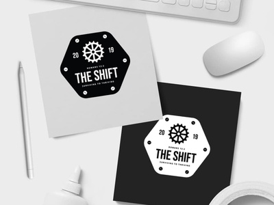 The Shift | Young Adults Retreat logo design creative scripture bible verse clean bike bycicle gear design retreat church logo branding