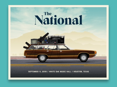 The National gig poster - Houston, TX
