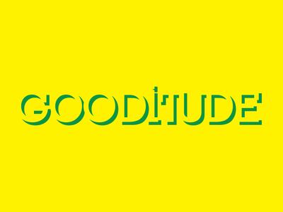 Gooditude green yellow type