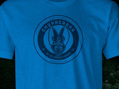 Chupacabra of the Loblolly Woods t-shirt chupacabra cycling animal blue