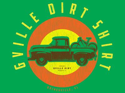 The Trucker GVille Dirt Shirt t-shirt distorted brown orange truck green
