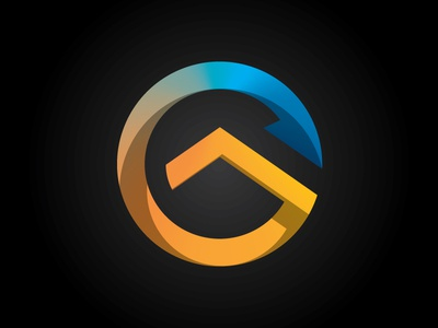 Repurpose Project Mark logo recycle circle shadow blue orange mark