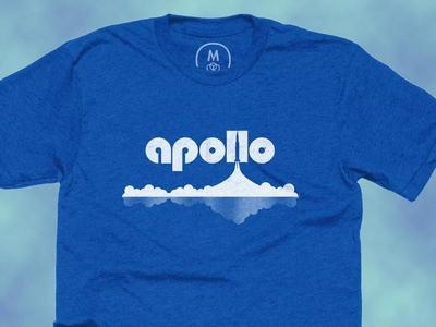 Apollo11 Tee Shirt blue clouds rocket space apollo 11