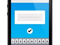 Temperature Submission Screen
