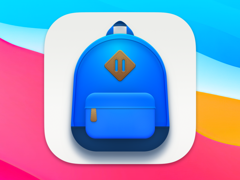 Big Sur Backpack back pack bookbag back to school macos icon big sur