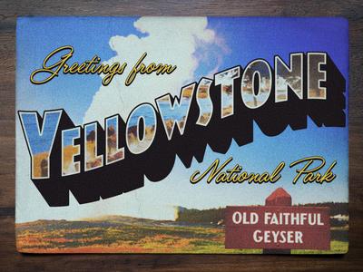 Vintage Postcard: Yellowstone