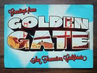 Vintage Postcard: Golden Gate