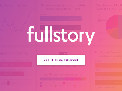 FullStory Free session replay ui design ux