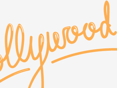 Dollywood Logo short and stout hand drawn type