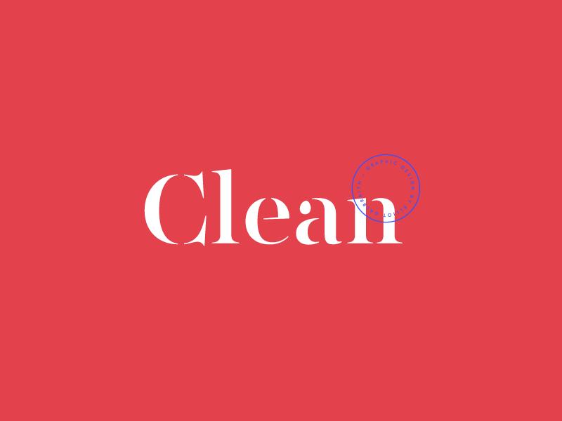 Clean Logo Concept clean modern typography concept logo