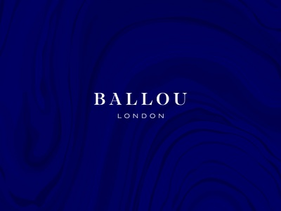 Ballou London logo london fashion branding