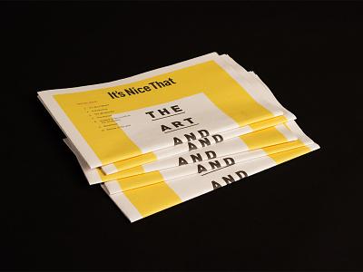 It's Nice That Newspaper dad design editorial branding newspaper