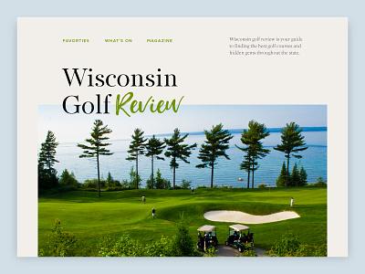 Wisconsin Golf Review web design typography branding editorial golf
