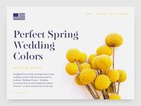 Wedding Flowers Website Concept