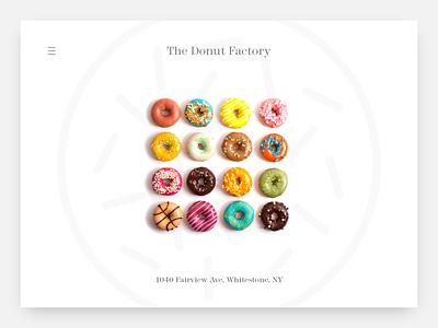The Donut Factory web design branding typography design web website donut