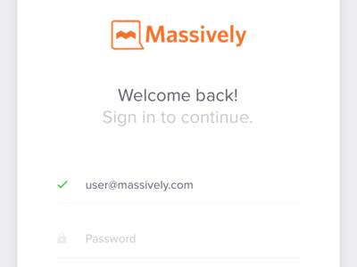 Massively Log In validation input web login