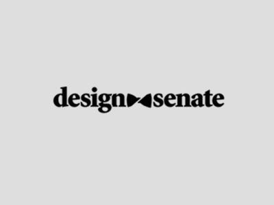 Design Senate Logo fashion design black and white bow-tie branding identity logo