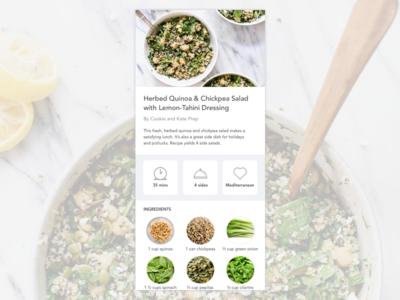 Daily UI #040 app mobileapp dailyui dailyui040 recipe