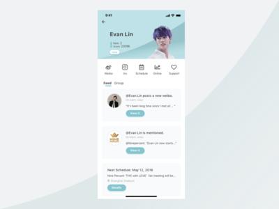 Idol App Design app mobile ui yanjun lin mobile app