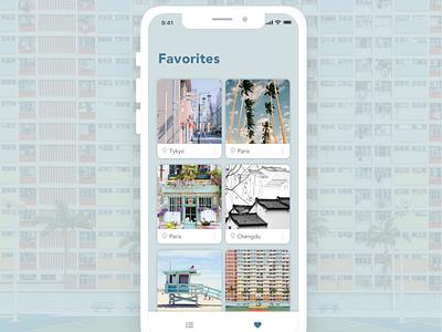 Daily UI #044 favorites mobile app
