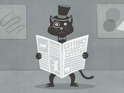 Cat Fancy Editorial Illustration illustration cat cnn