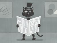 Cat Fancy Editorial Illustration