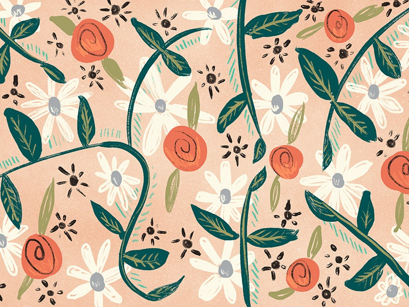 Floral pattern painting flowers floral pattern