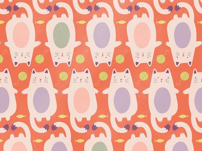 National Cat Day Pattern