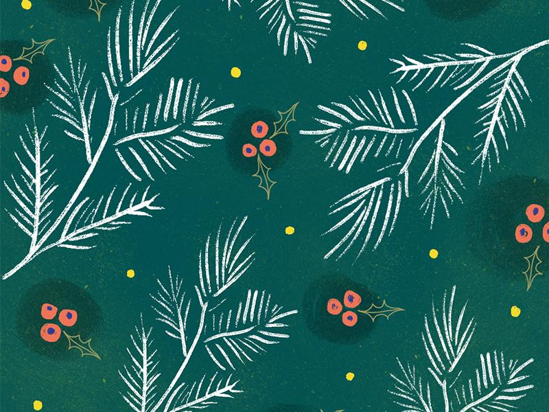 Pattern pine winter holiday christmas pattern