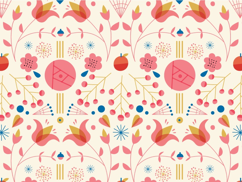 Pattern #wip illustrations geometric flowers pattern wip