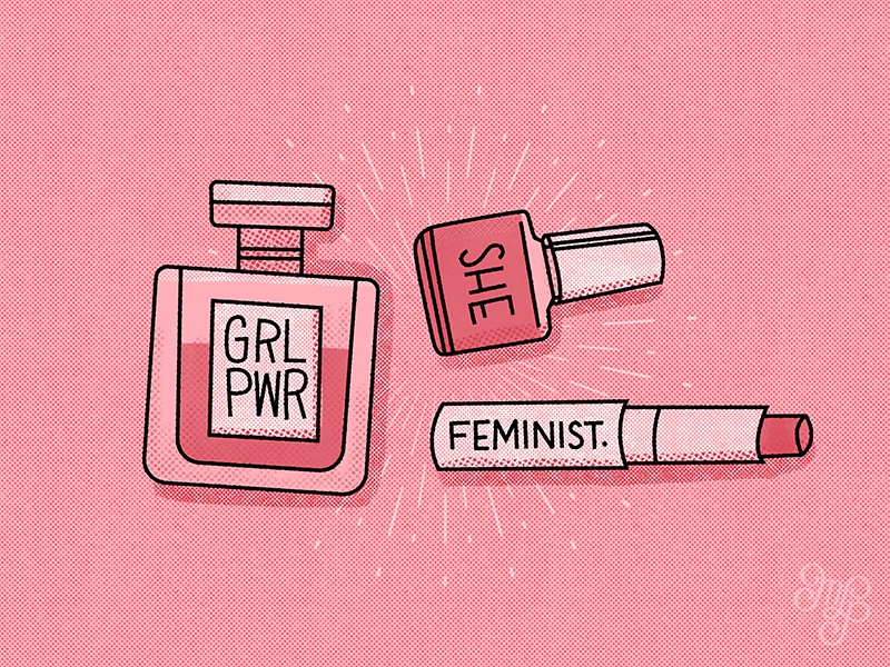 Editorial illustration Fempowerment products products fempowerment feminist editorial illustration