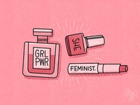 Editorial illustration Fempowerment products